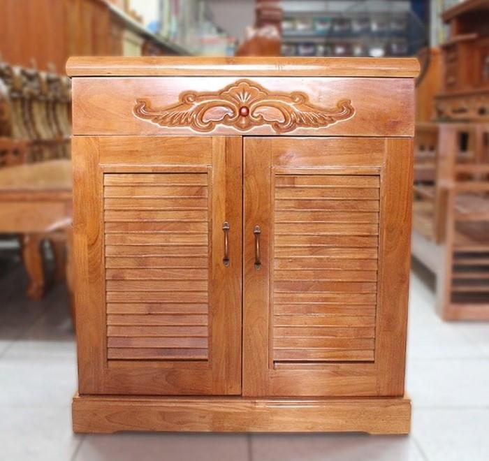 Tủ giày gỗ giá rẻ bằng gỗ thông ghép