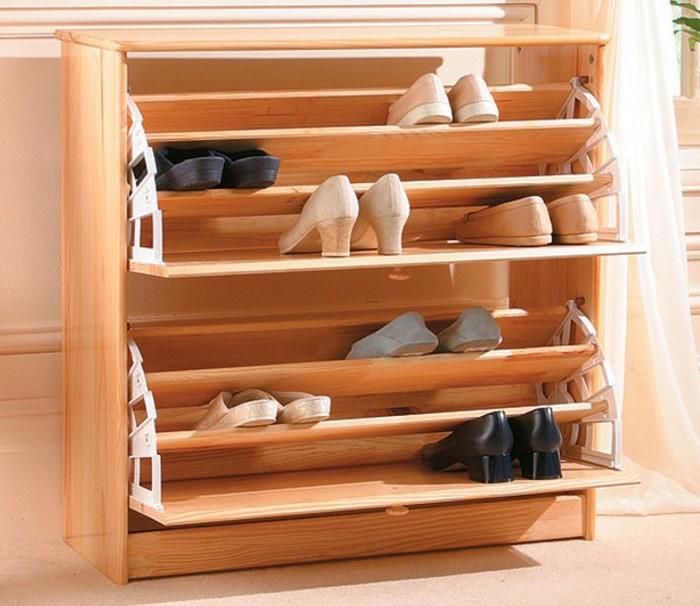 Tủ giày thông minh gỗ tự nhiên