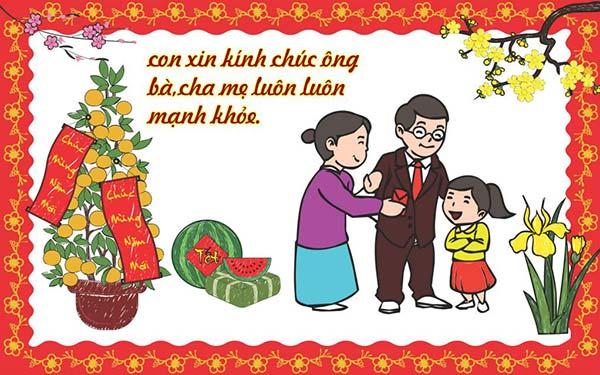 Những câu chúc tết, chúc mừng năm mới dành cho ông bà, cha mẹ