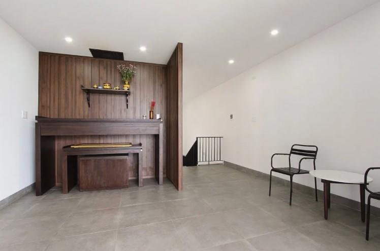 Nội thất phòng thờ đơn giản với gỗ công nghiệp