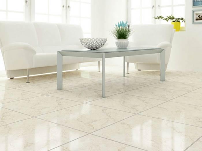 chọn gạch men dựa vào chiều ngang của nền nhà
