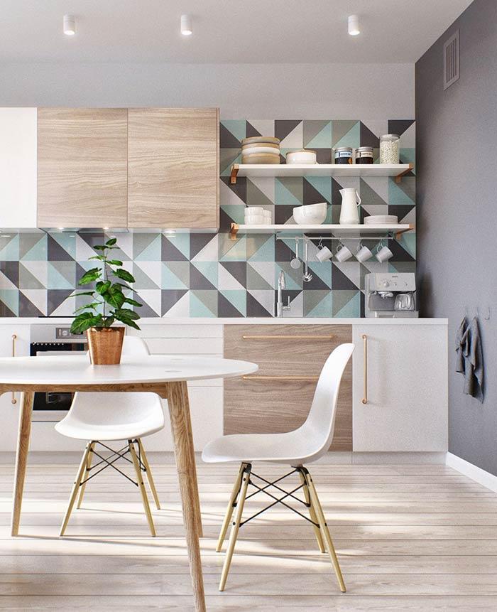 họa tiết gạch ốp tường bếp
