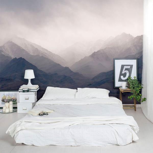 giấy dán tường phong cảnh núi non hùng vĩ