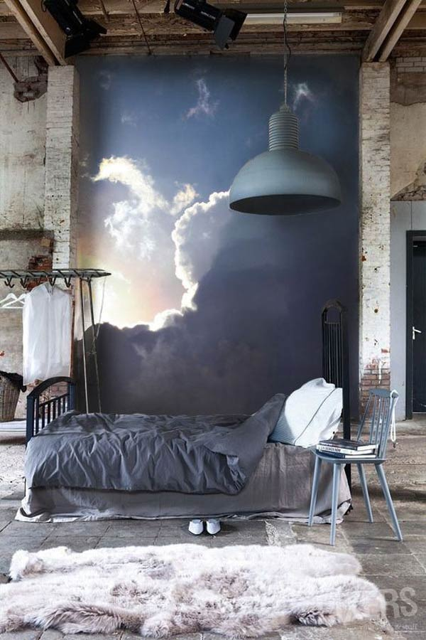 mẫu giấy hình ảnh bầu trời mây