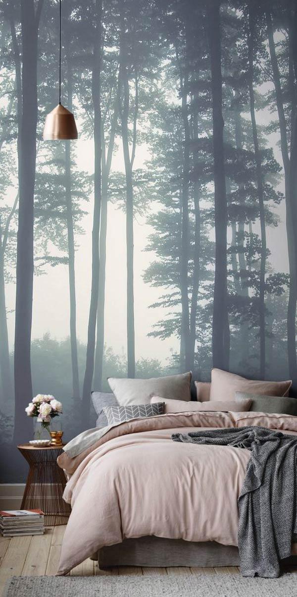 Giấy dán tường cảnh khu rừng huyền bí
