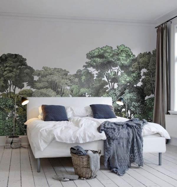 Giấy dán tường không khí hoang dã của rừng cây