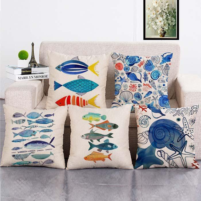Gối tựa lưng sofa chủ đề đại dương