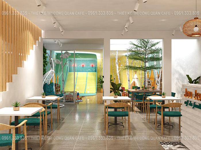 Thiết kế quán cafe kết hợp khu vui chơi trẻ em