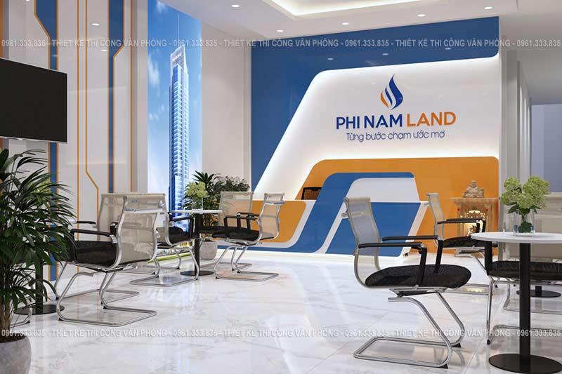 Thiết kế nội thất văn phòng bất động sản Phi Nam Land