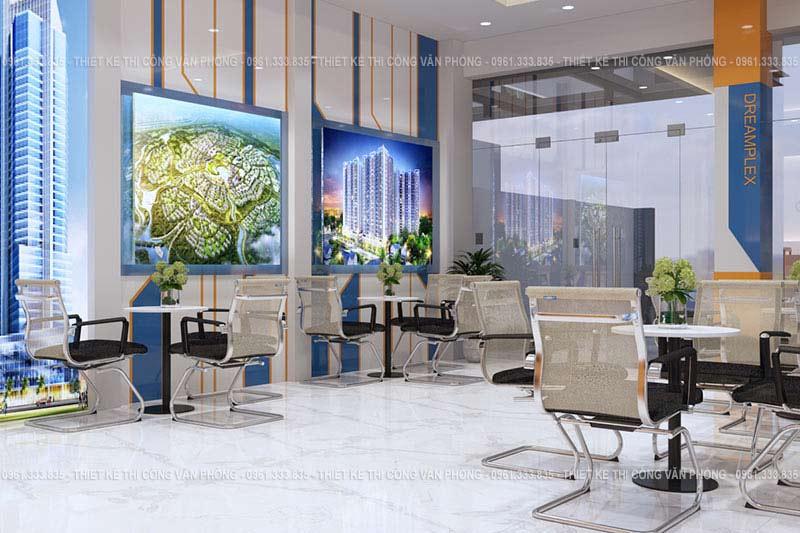 Thiết kế không gian văn phòng bds hiện đại