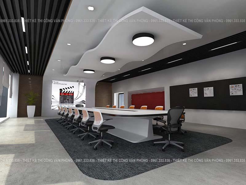 Thiết kế phòng họp công ty game công nghệ