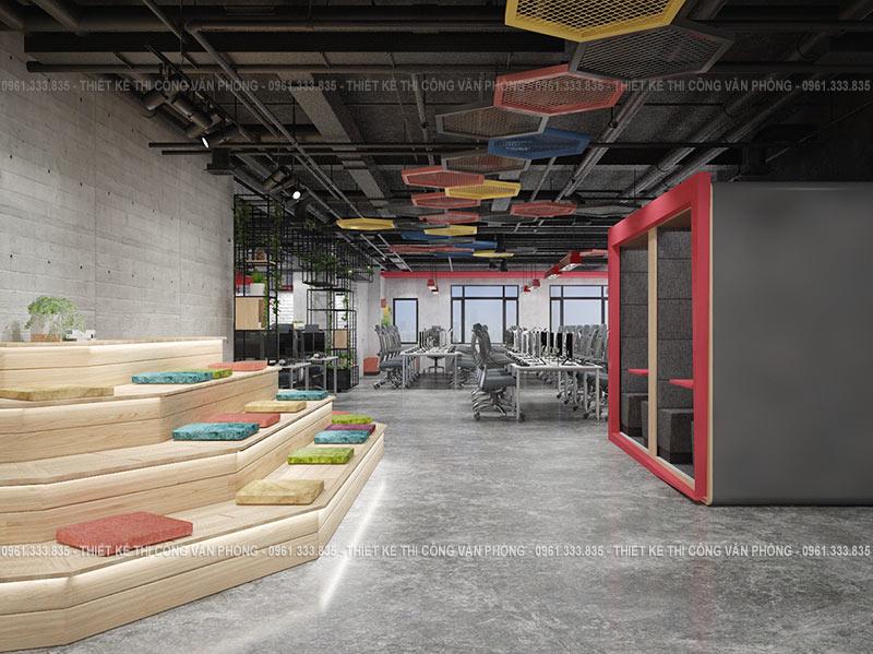 Thiết kế nội thất văn phòng làm việc hiện đại