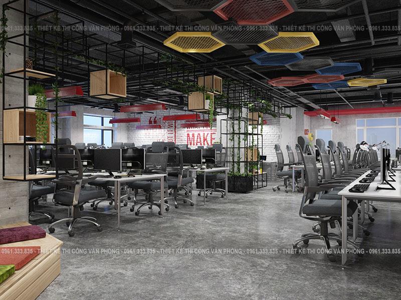 Thiết kế không gian nội thất làm việc hiện đại